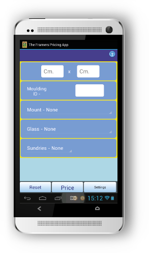 The Framers Pricing App